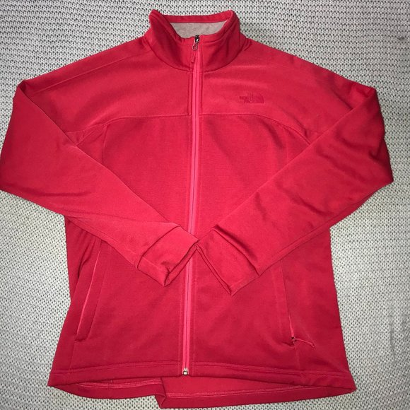 North Face Women's Large Red Zip Up Jacket